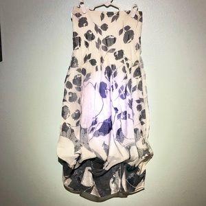 Lapis Strapless Summer Dress